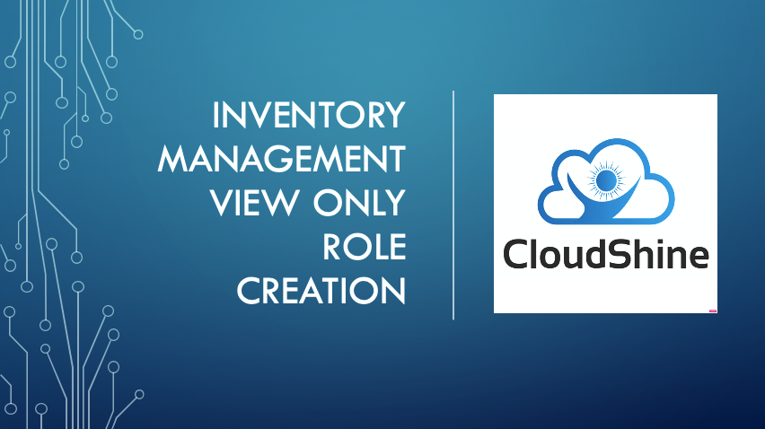Inventory Management View Only Role Creation
